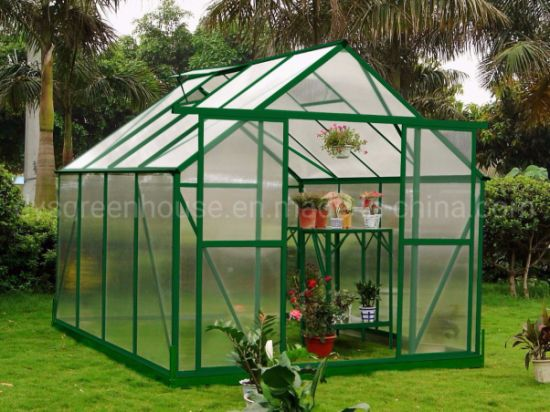 China Polycarbonate Aluminium Frame Flower Seed Garden Greenhouse Rdgu0808-6mm