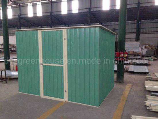 China High Performance Home Garden Easy Accemble Large Car Storage Steel Garden Shed