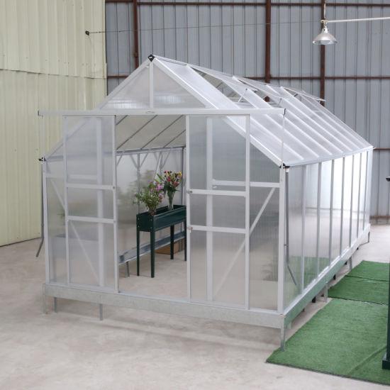 China Lanyu Waterproof Polycarbonate Garden Greenhouse Sunshade with Aluminium Green House