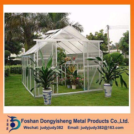 China Manufacturer Sale Commercial Aluminium Alloy Modern Outdoor Modular Green House Kit PC Sheet S
