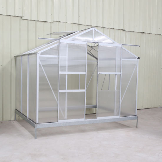 China Mini Aluminium Polycarbonate Garden Greenhouse for Sale