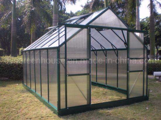 China Modern Home Design Hobby Aluminium Polycarbonate Garden Greenhouses for Sale