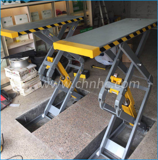 China 3500kg Ce Approved In Ground Double Hydraulic Car Scissor