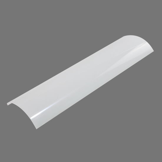 China Custom Clear Frosted Milky PC Cover Lighting Lens for Housing LED Lighting Fixture