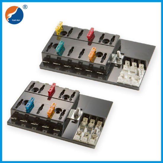 bus fuse box china multi way 10 way blade fuse box with ground bus  fuse holder bus bar fuse box blade fuse box with ground bus
