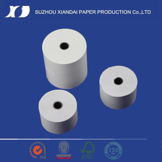 China 80mm*80mm with 12mm*17mm Black Plastic Thermal Paper
