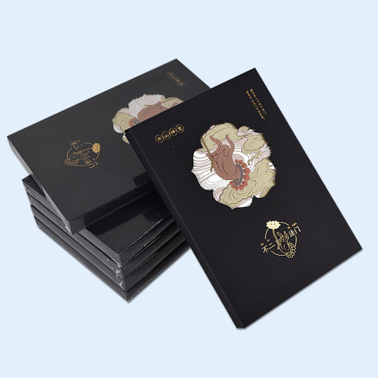 China Hot Stamping Hardcover Notebook with Paper Packing Box
