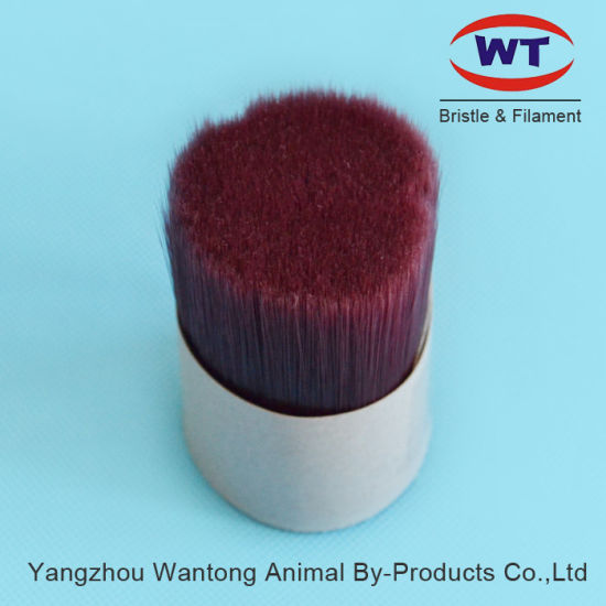 China Manufacturer of Wine Red Solid Bristle Synthetic Monofilament for Brush Making