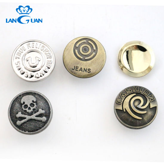 China Hot Selling Stainless Steel Metal Brass Jeans Button