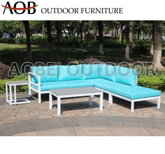 China Modern Outdoor Garden Home Hotel Patio Resort Leisure Lounge Corner Sofa Furniture with Polywo