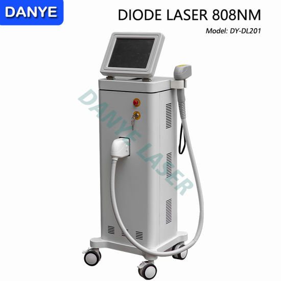 China Vertical Model 808nm Diode Laser Hair Removal Machine With