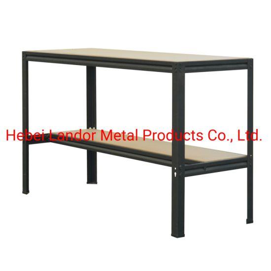 China 2 Tier Powder Coated Metal Workbench