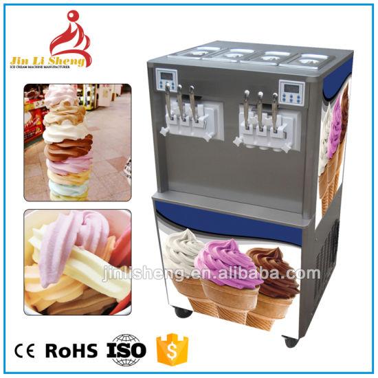 الصين 4 2 مزيج نكهة الآيس كريم الزبادي آلة الآيس كريم مع شاشة ملونة رقمية ماكينات الوجبات الخفيفة بالجملة على Topchinasupplier Com