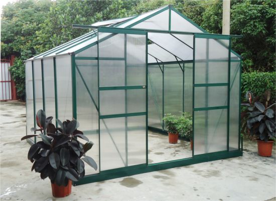 China Gsg Aluminum Greenhouse with Aluminum Frame Walk in Greenhouse Garden Hobby