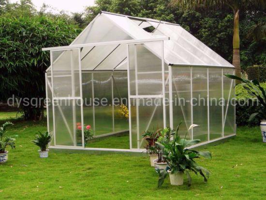 China Wonderful Aluminium Frame Backyard Top-Tated Greenhouse Kits