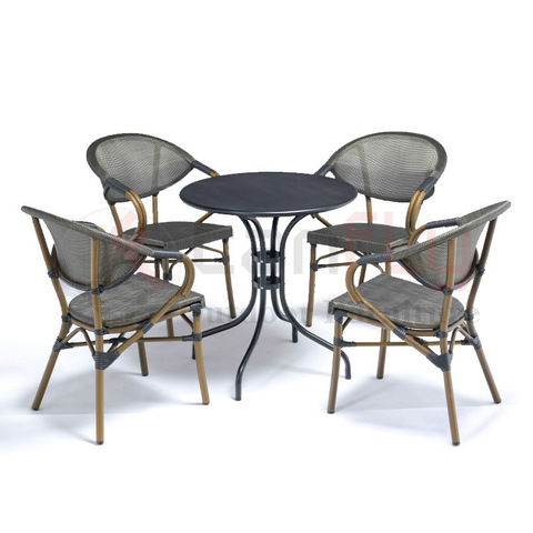 All-weather leisure black outdoor commercial cafe furniture pictures & photos