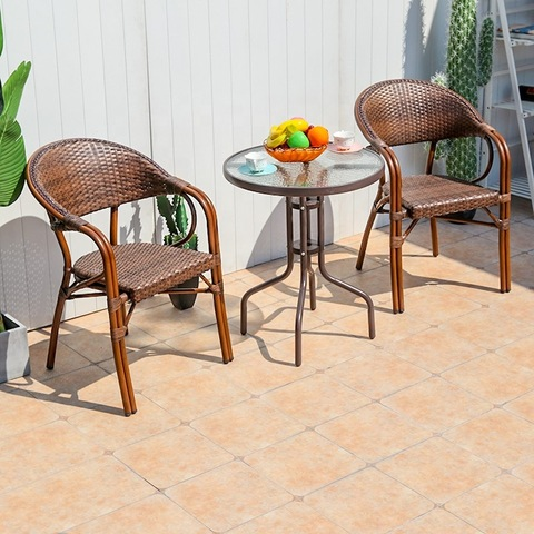 All-weather popular garden furniture rattan coffee furniture set