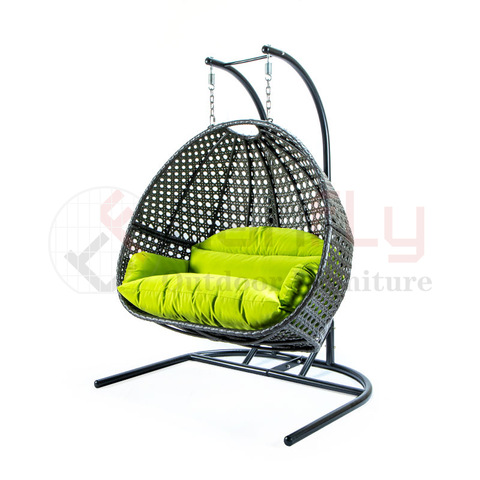 Garden Convenient Hanging Chair Egg Shaped PE Rattan Swing Chair Outdoor