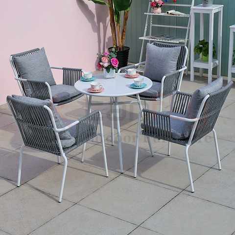 Garden rope chair outdoor rope woven restaurant furniture