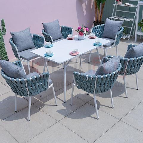 Vrije tijd waterdichte tuin touw meubels bistro marine touw stoel