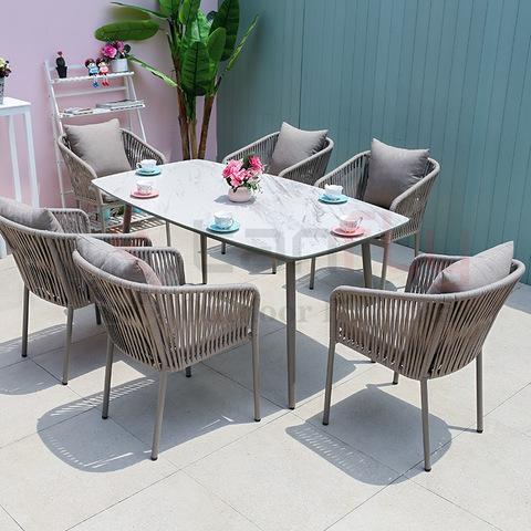 Moderne eetkamerstoelen Woonkamermeubilair Villa Conversatieset