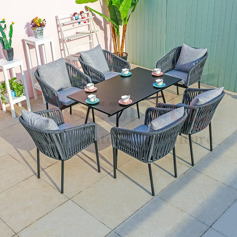 Modern Patio Furniture Outdoor Rope Woven Chair For Garden