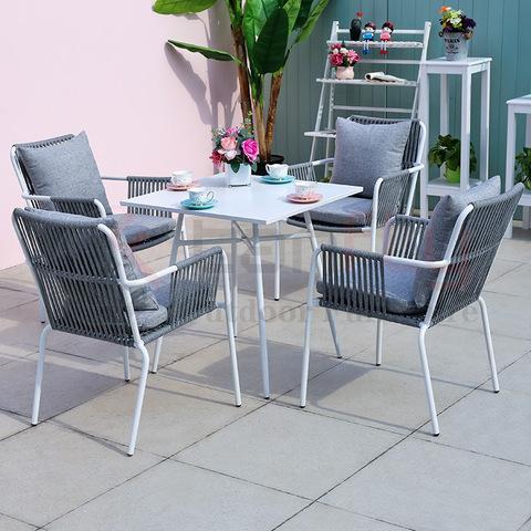 Modern popular aluminium garden outdoor furniture rope coffee chair