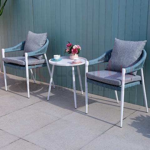 Mobilă modernă populară pentru casă cu frânghii, set de cafea mobilier de conversații în aer liber