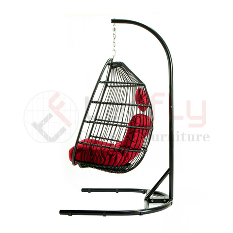 New design U-shaped stand folding single patio swing chair garden hammock pictures & photos