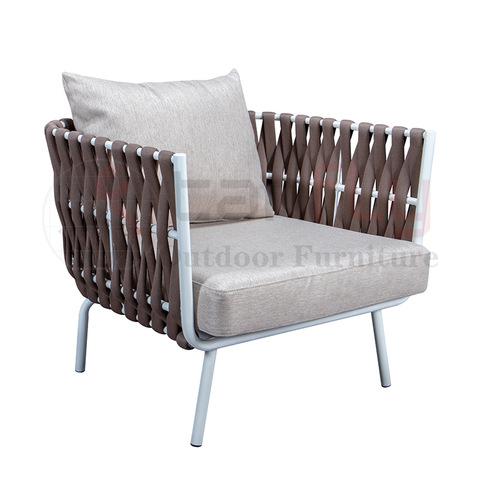 Phong cách đơn giản Dây ngoài trời Sofa bọc sofa Đồ nội thất sân vườn với dây thừng hình ảnh & hình ảnh