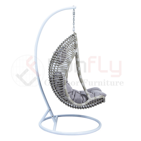 rattan outdoor furniture single seater garden swing chair with armrest pictures & photos