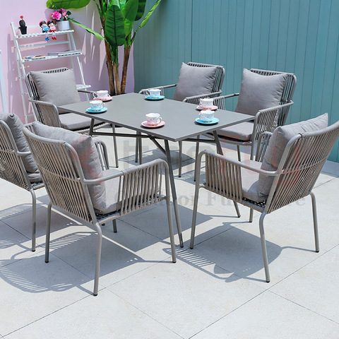 rope furniture south africa lightweight aluminum table woven rope bistro chairs pictures & photos