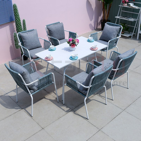 rope furniture south africa lightweight aluminum table woven rope bistro chairs