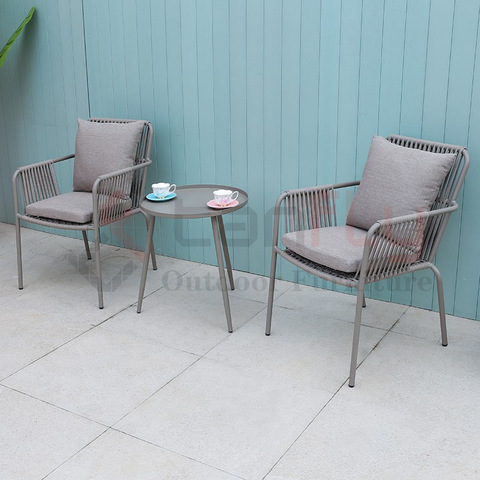 simple design comfortable conversation furniture rope coffee chair outdoor pictures & photos