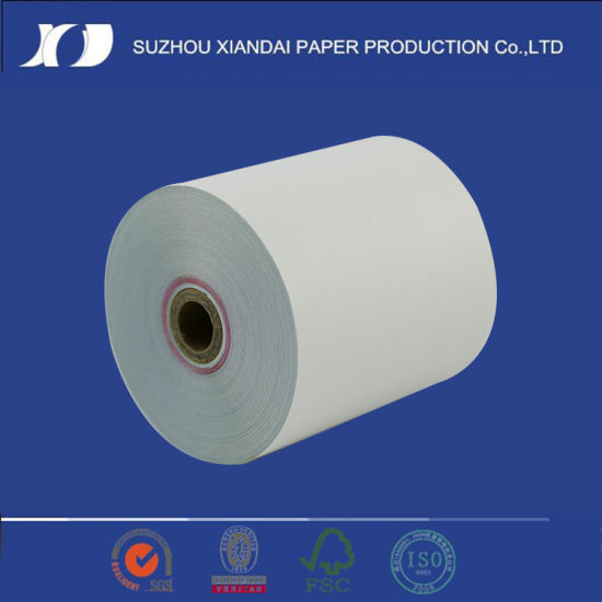 China 2ply White Pink Carbonless Paper Rolls