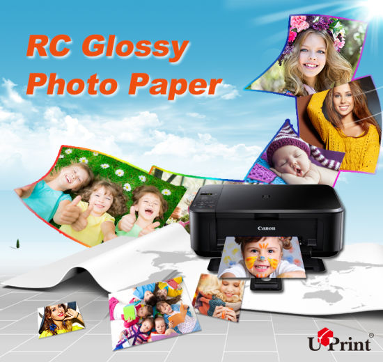 China High Glossy Waterproof A4 A3 A6 4r Roll115g-260g Photo Paper Silk Photo Paper