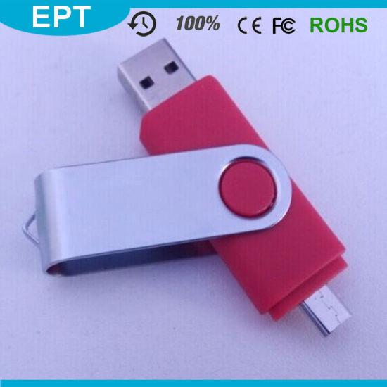 China Mobile Phone Swivel OTG Plastic Red USB Pendrive