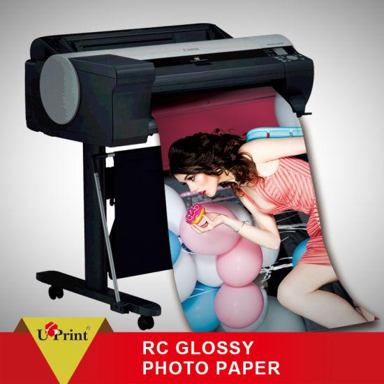China Premium 240GSM RC Glossy Digital Printing Photo Paper Roll Resin Coated Inkjet Plotter Paper