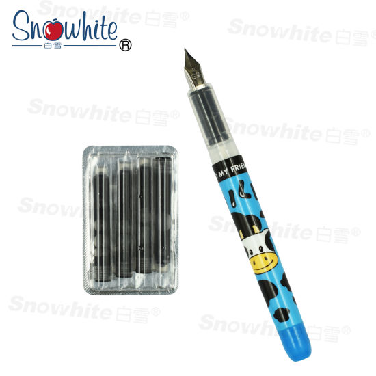 China Custom printing Plastic Fountain Pen Fp06 From Snowhite Stationery pictures & photos