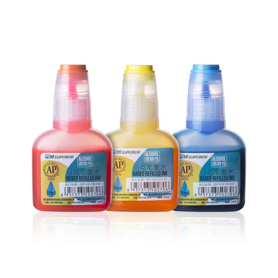 China Superior 240 Colors Non-Toxic Alcohol Based Refilled Ink with Bottle pictures & photos