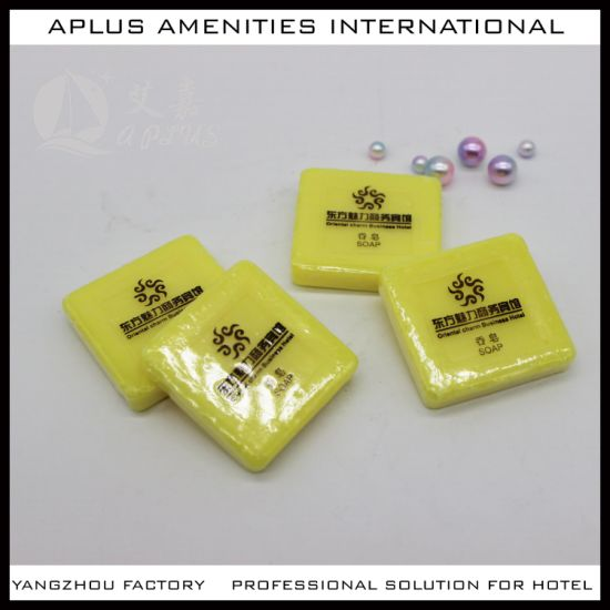 China Yellow Hotel Soap with Label pictures & photos