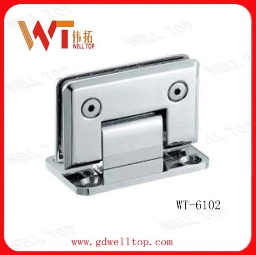 China 90 Degree Shower Clamp Glass Door Shower Hinge Wt-6102 pictures & photos