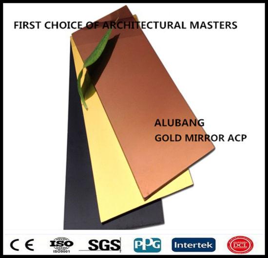China PVDF or PE Coated Plastic Aluminum Composite Panel