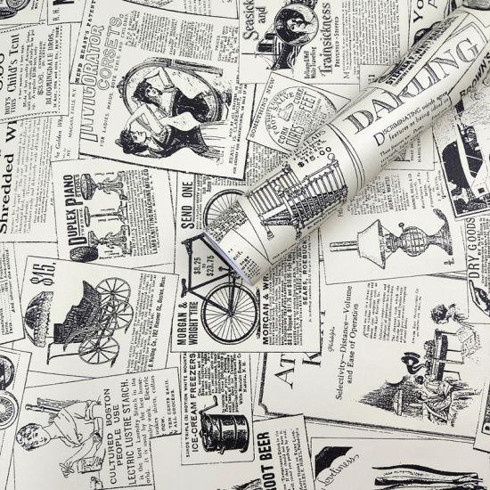 الصين الكلاسيكية للجريدة الملونة كريم خلفية Pvc نمط ورق الحائط الساخن بيع ورق الحائط بالجملة على Topchinasupplier Com