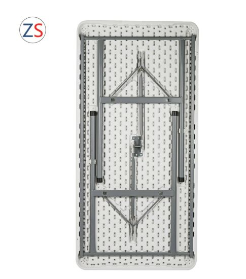 China 122cm Outdoor Event Resin Folding Regular Table