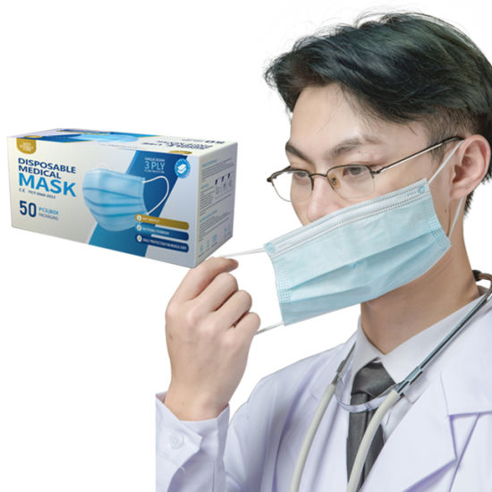 China 3ply Hot Sales Factory Supplier Disposable Medical Mascarilla Protective Surgical Face Mask