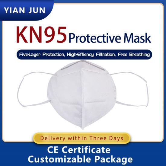 Кітай Карыстальніцкія аднаразовыя дыхальныя прыкрыцці маскі для асобы з антысептыкам KN95