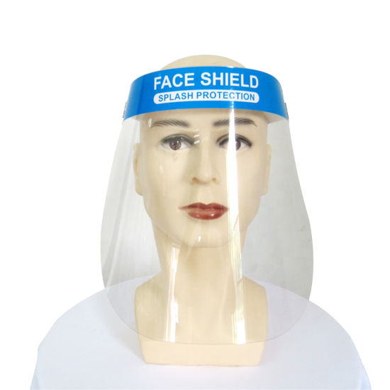 China in Stock Transparent Mask Face Shield Anti Fog Plastic PPE Face Shield Splash Protective Full Guard Safety Face Visor Shield