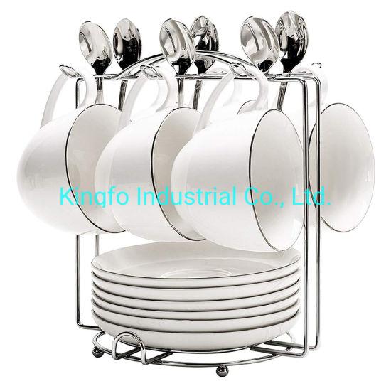 حامل فناجين القهوة الصيني Ststainless Steel Coffee Cup Holders For Counter 6 Hooks Kfc11010 رفوف ورفوف أخرى من الصين على Topchinasupplier Com