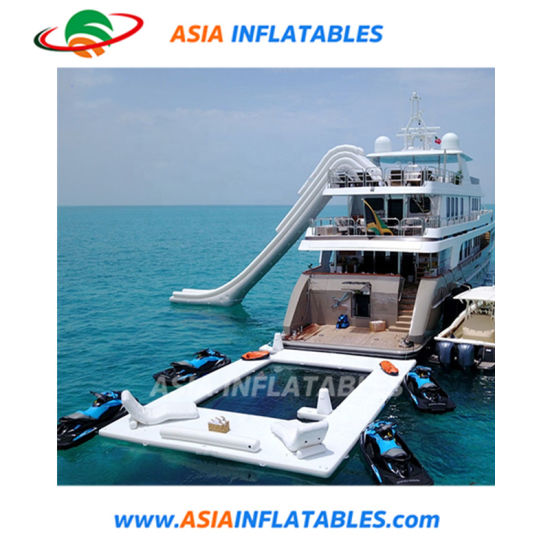 China Floating Pool for Yacht Swimming Pool Inflatable Anti Jellyfish Inflatable Pool with Net pictures & photos